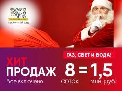 Поселок «Нескучный Сад», 37 км Новорижское шоссе 8 сот. = 1,5 млн рублей!